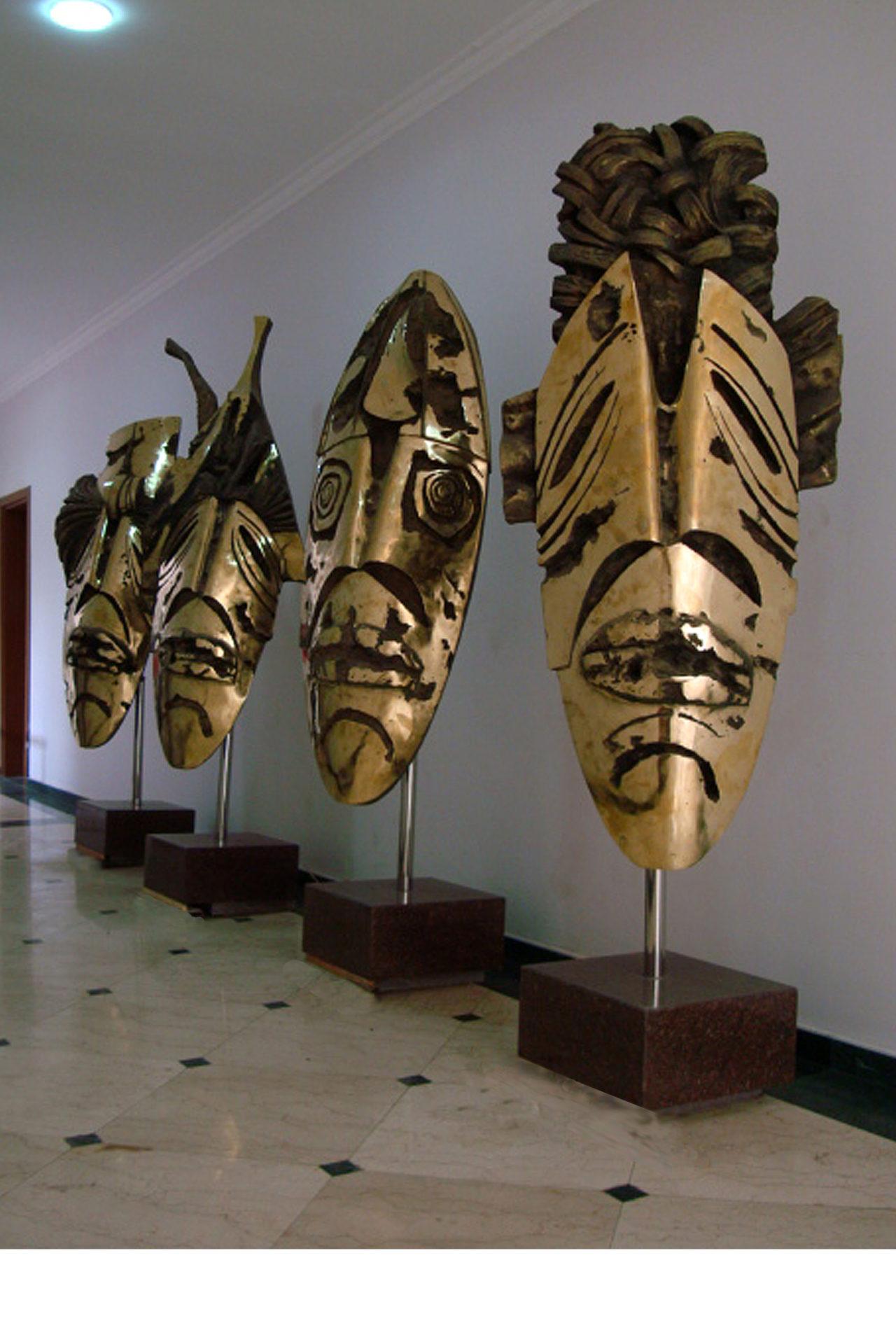 --- MASK DERVISHES--- bronze 2300x700 2011