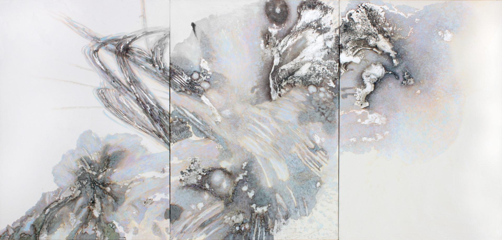 Ali Ibadullayev --- FLYING --- 345 x 165 oil on canvas 2014