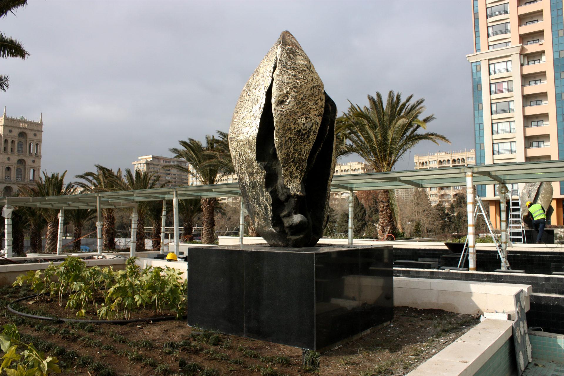 JW MARRIOTT HOTEL « Absheron Lights » 240 x 150 x 180 bronze