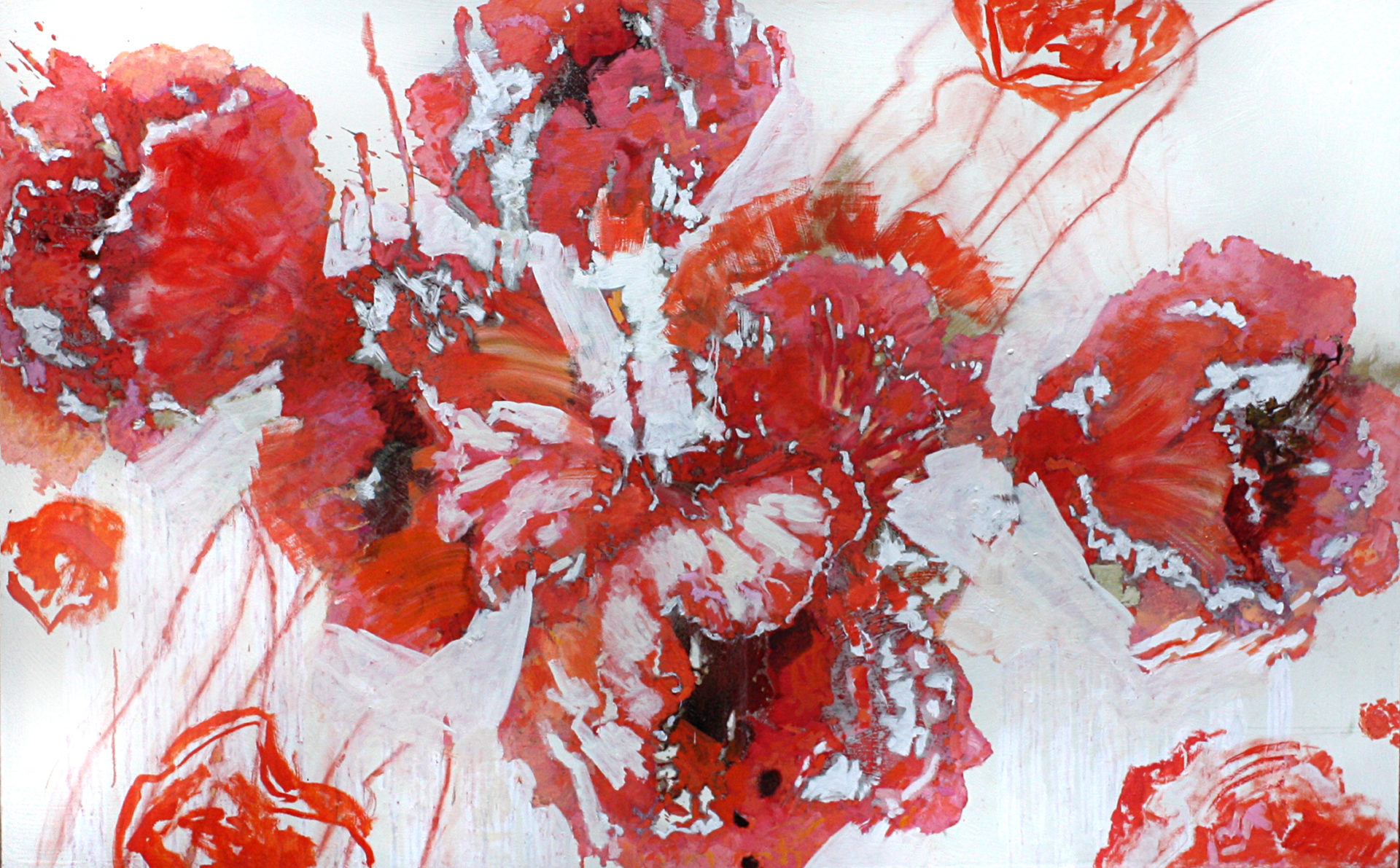 Ali Ibadullayev ---POPPIES --- 200 x 125  oil on canvas  2012