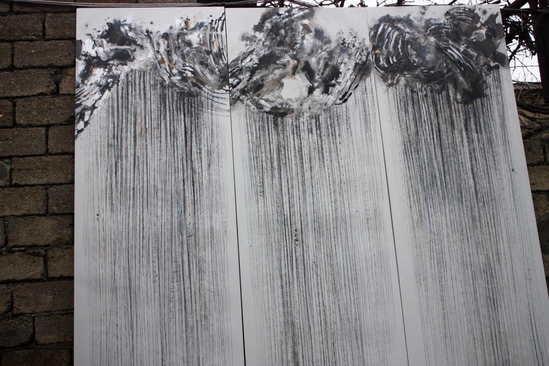 -- RAIN -- oil on canvas 2019