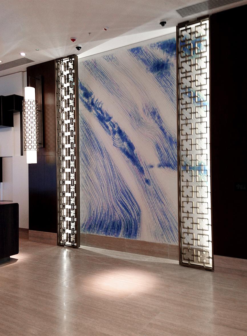 --- acrylic on the wall-- Boulevard Hotel Baku