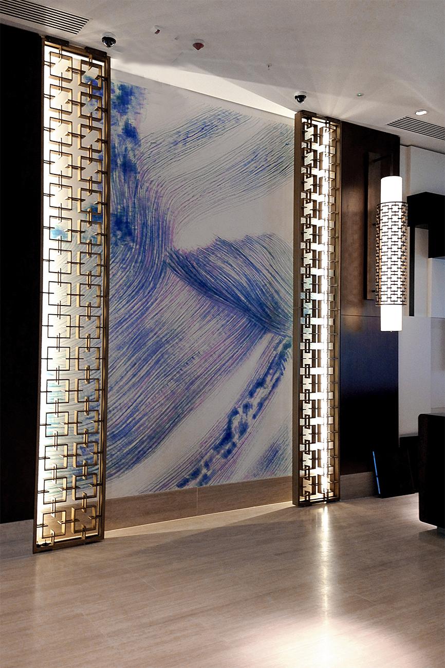 -- acrylic on the wall-- Boulevard Hotel Baku