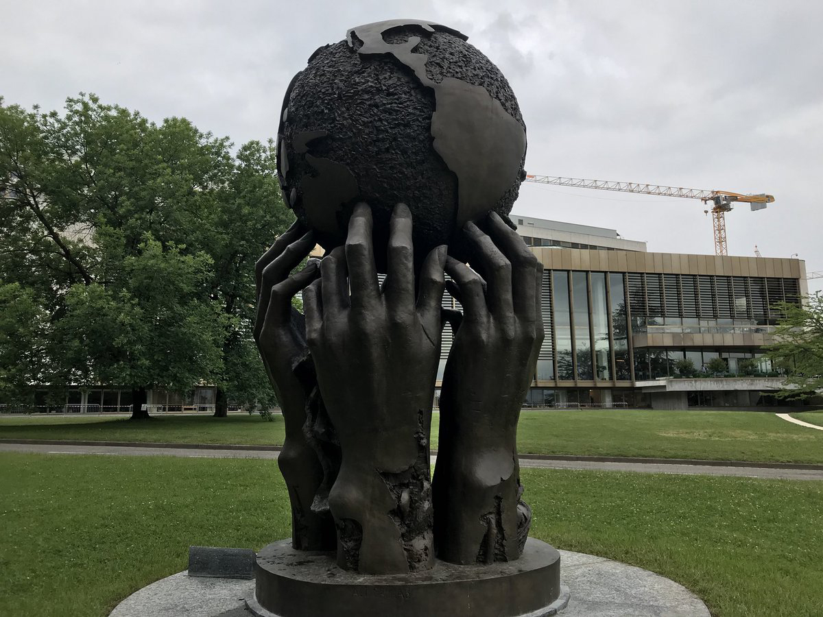 -Thoughts and Desires- bronze Ariana Park Geneva United Nations